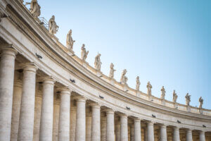 Why is St. Peter's Square oval-shaped?
