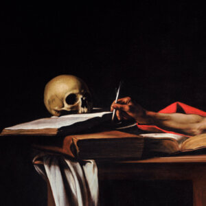Why does St. Jerome have a skull in his study?